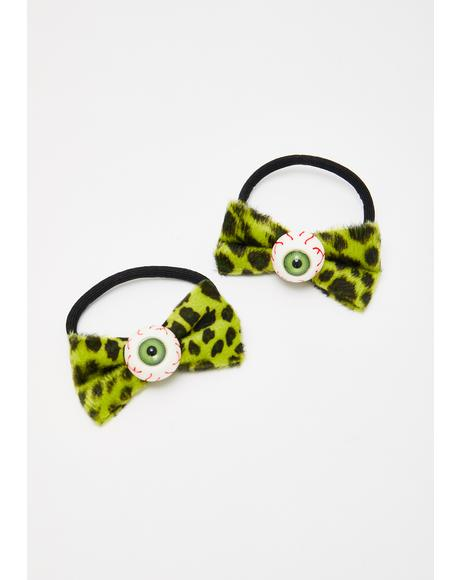 Eyeball Hair Bow Bands