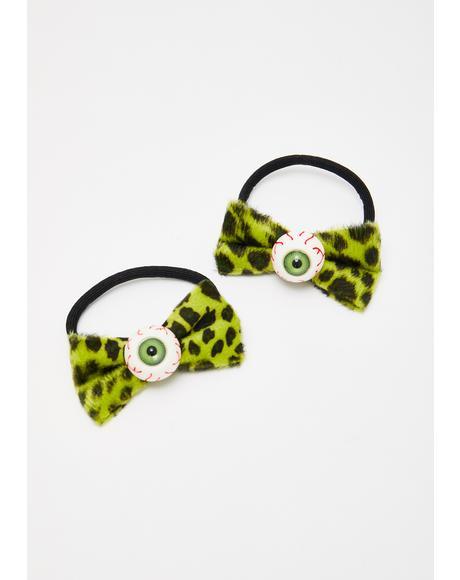 Eyeball Hair Bow Bands