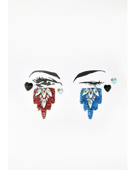 Harley Quinn Face Jewels