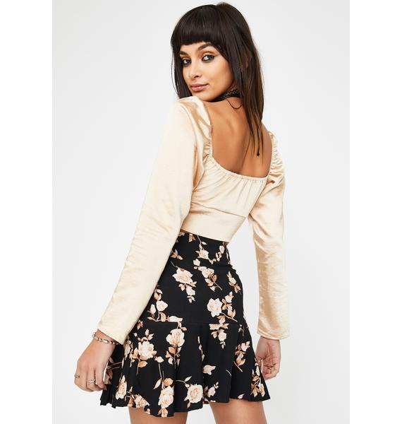 Motel Peach Rose Gaelle Mini Skirt