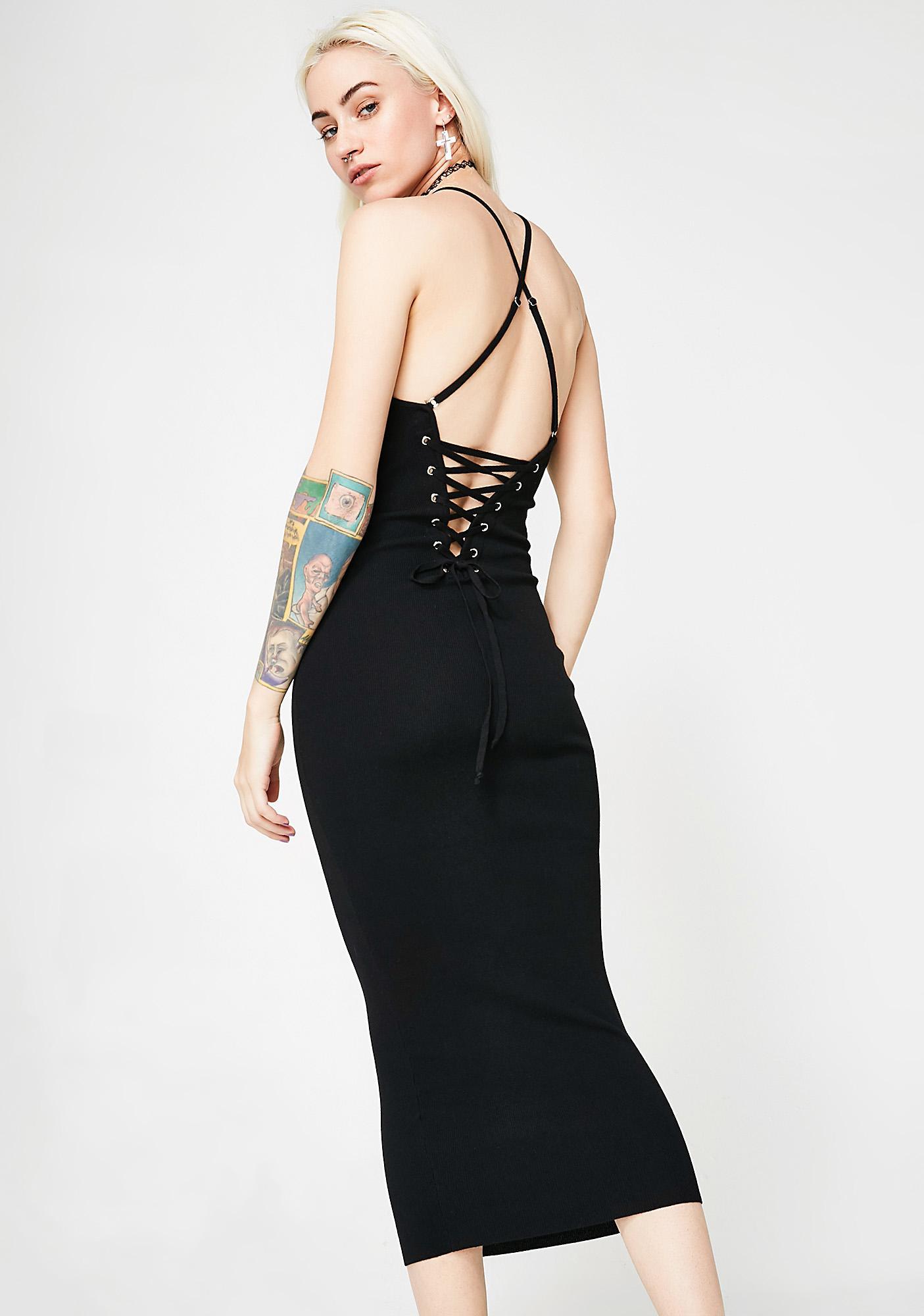 Back Talk Midi Dress