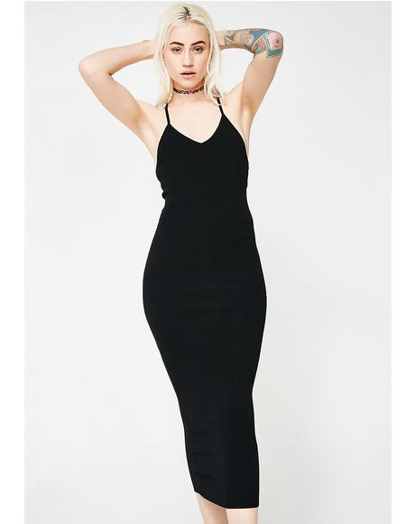 Back Talk Midi Dress