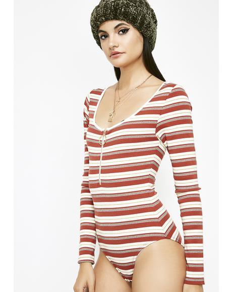 Not Yo Homie Stripe Bodysuit