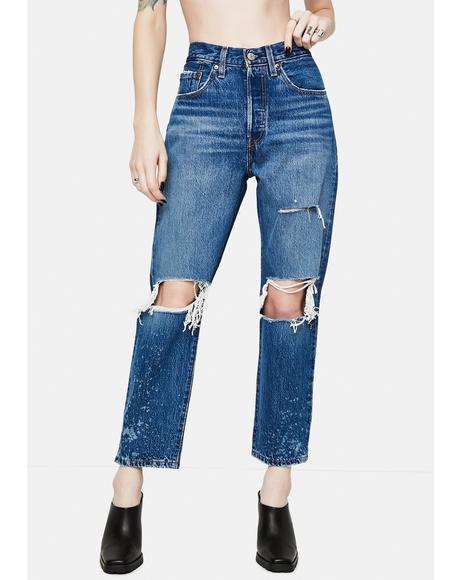 Athens Rank 501 Cropped Denim Jeans