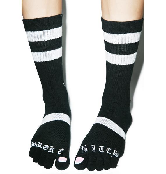 Stance Broke Bitch Toe Socks