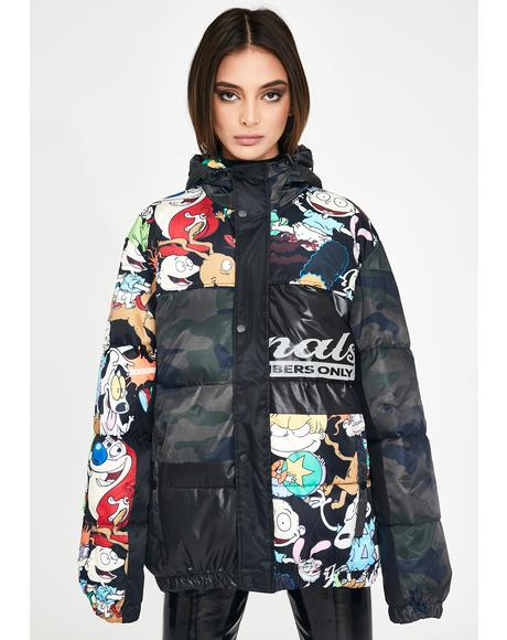 Nickelodeon Camo Puffer Jacket