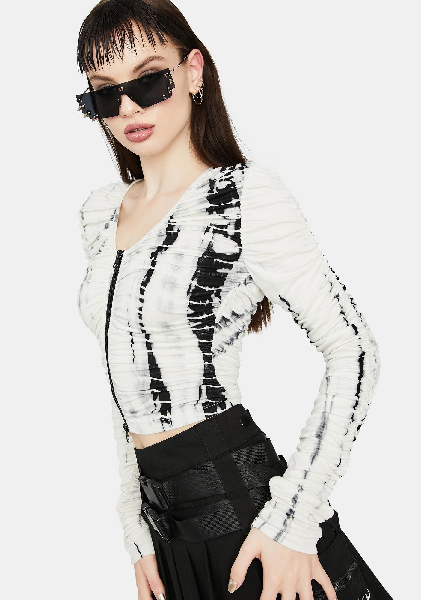 Parallel Passion Ruched Crop Top