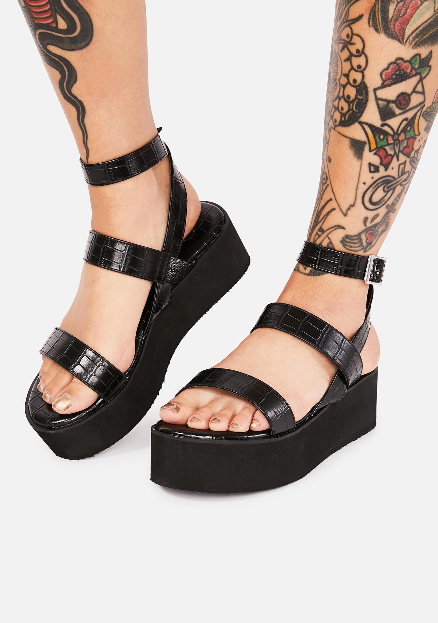 Ink Make A Scene Platform Sandals