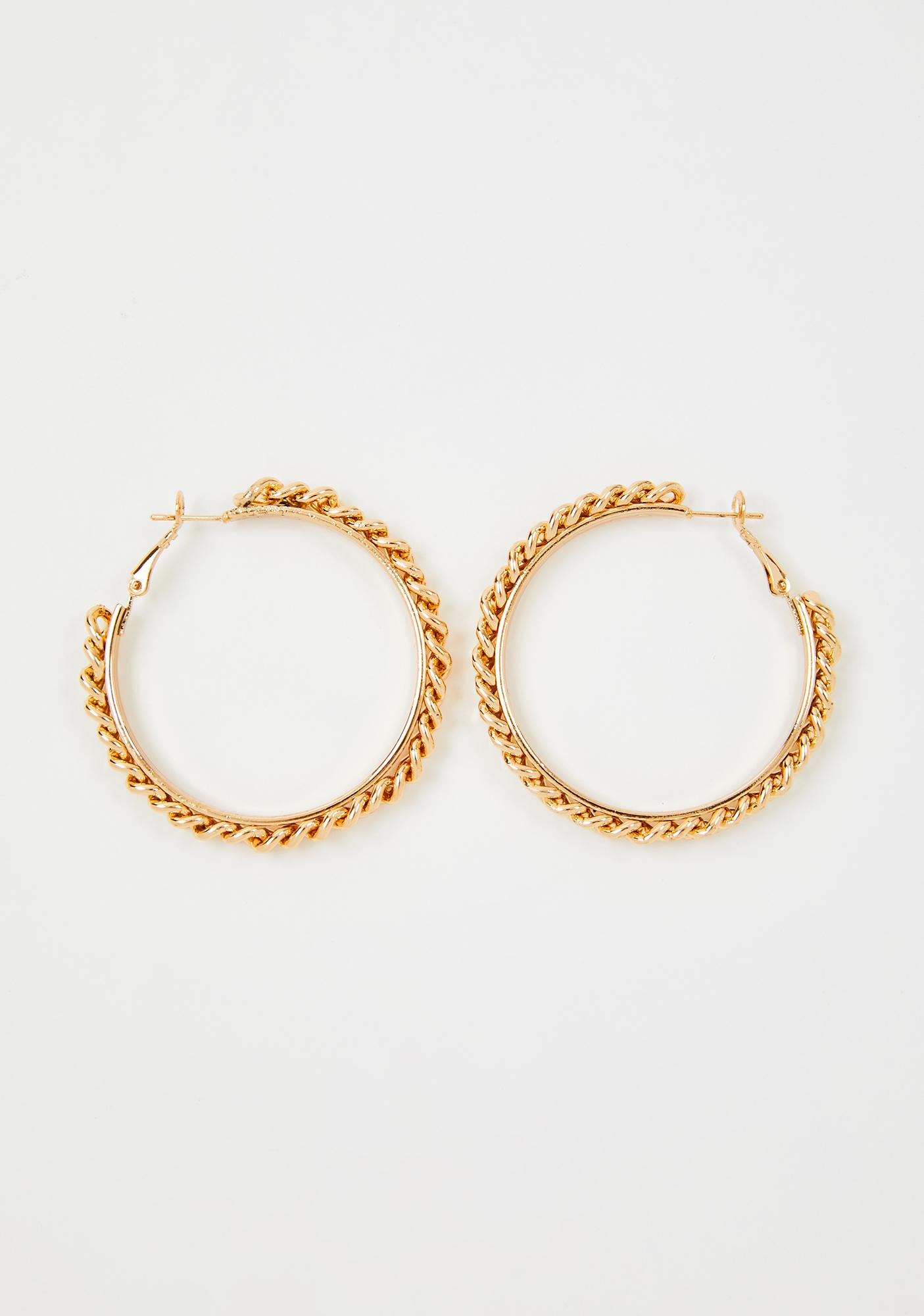 Daddy's Dimepiece Hoop Earrings