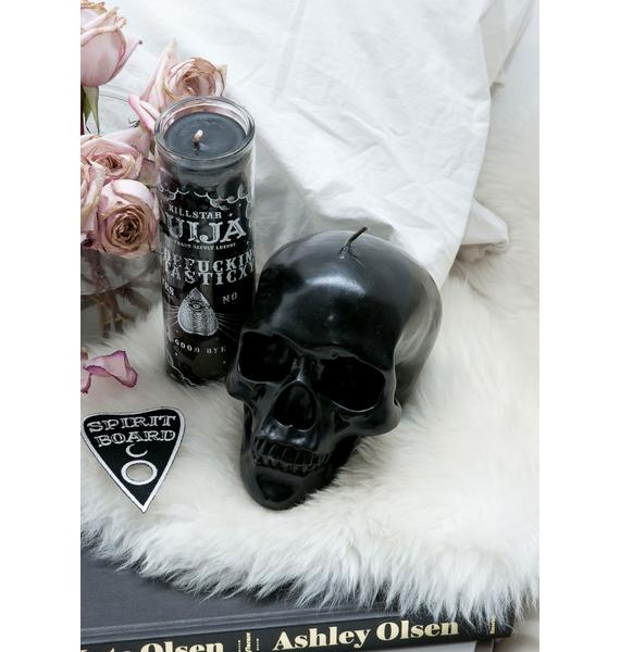 Killstar Black Skull Candle