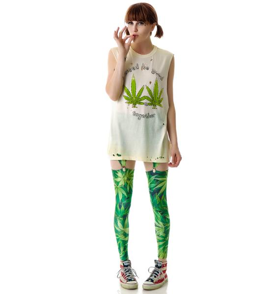 Mary Jane Suspender Leggings