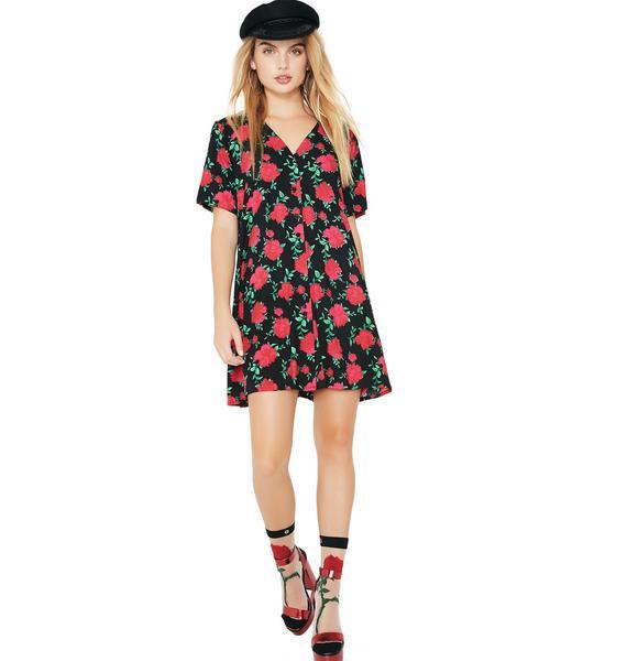 Motel Valeria Rose Crosena Babydoll Dress