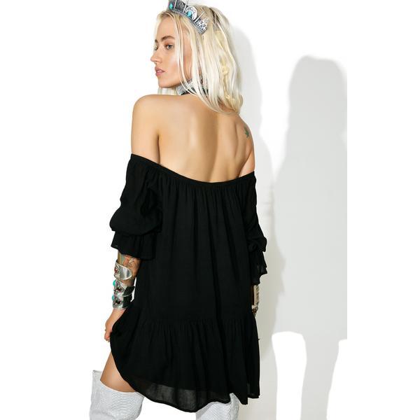 Onyx Stevie Off-Shoulder Dress