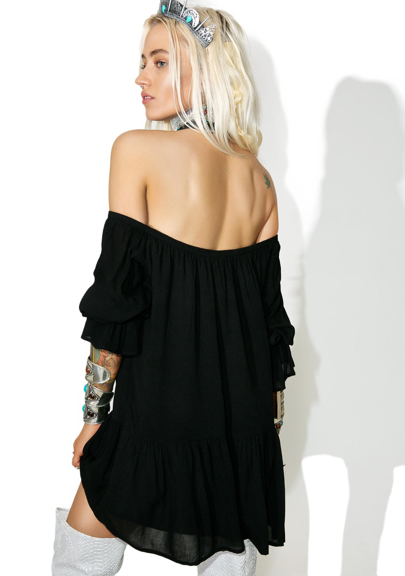 Onyx Stevie Off-Shoulder Dress