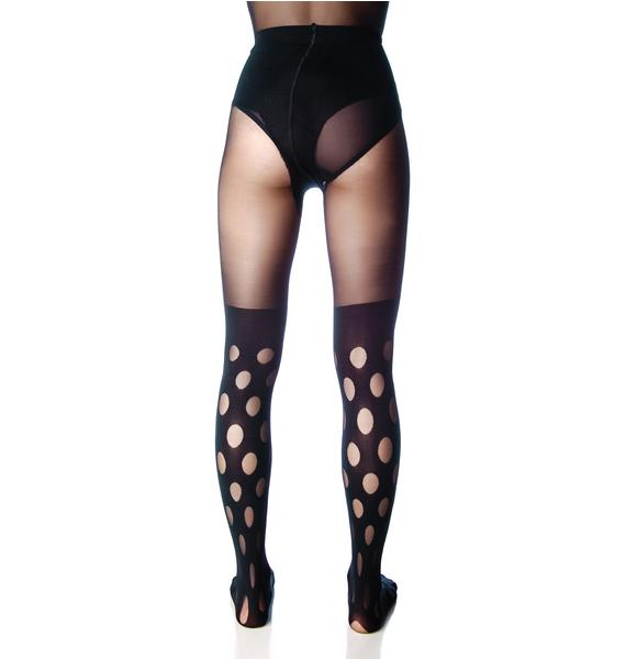 House of Holland X Pretty Polly Reverse Spot Tights