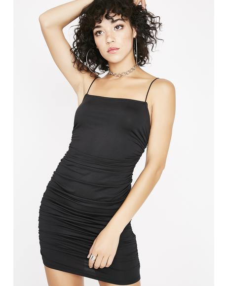 Midnight Having Fun Ruched Dress