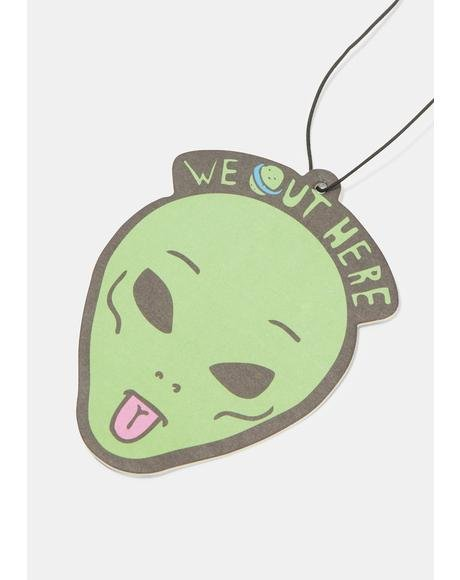 We Out Here Alien Air Freshener