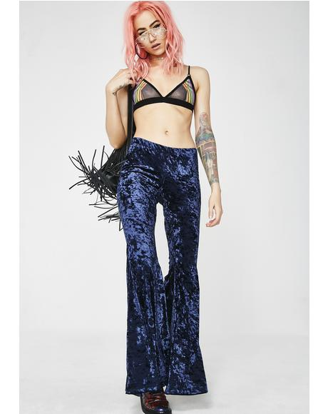Far Out Foxxx Velvet Bell Bottoms