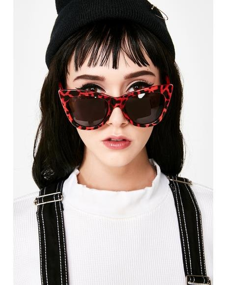 Cherry Hollywood Hillz Cat Eye Sunglasses