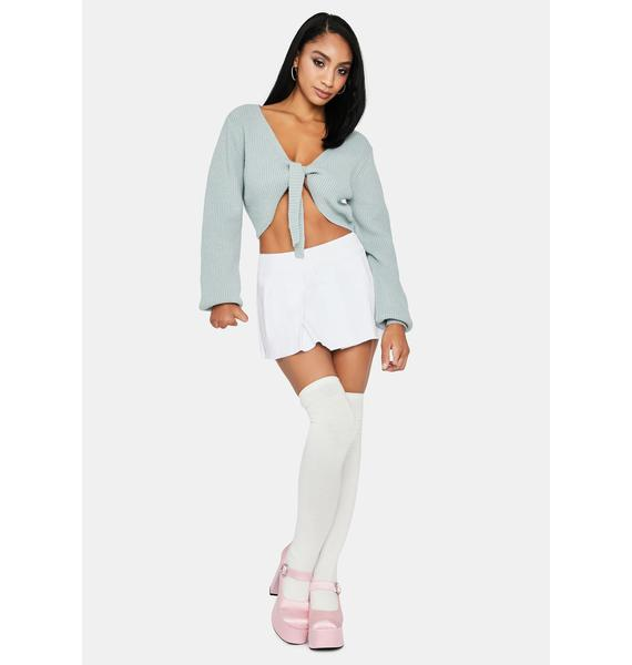 Silence Chic Tie Front Sweater