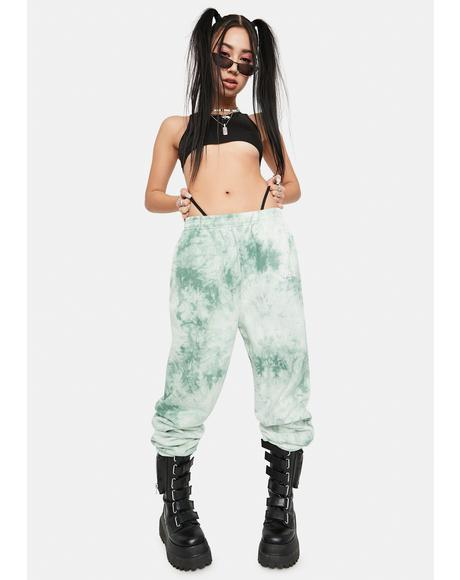 Green Tea Everyday Tie Dye Sweatpants