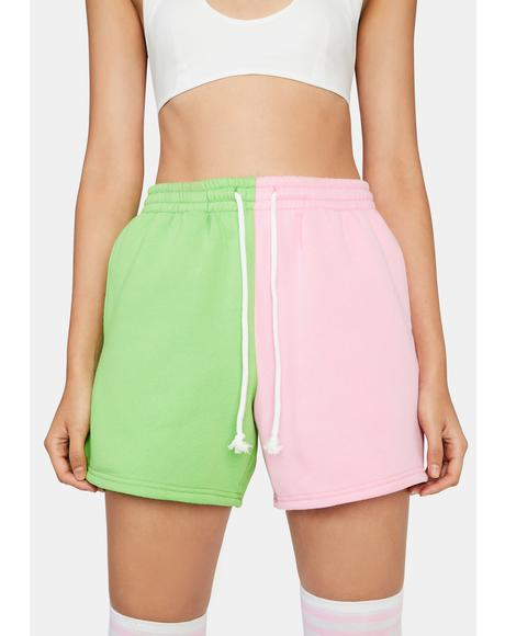 Watermelon Winning Point Sweat Shorts