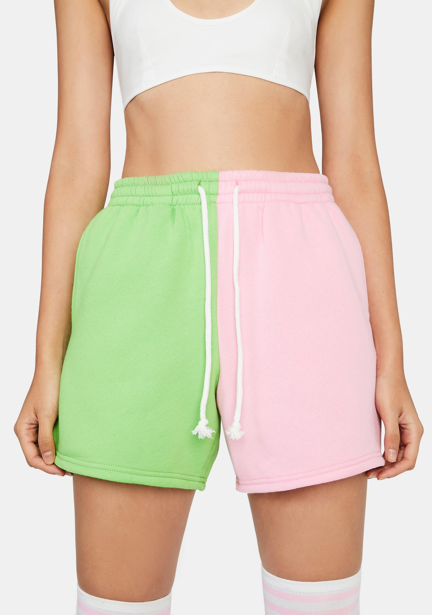 Watermelon Winning Point Sweat Shorts