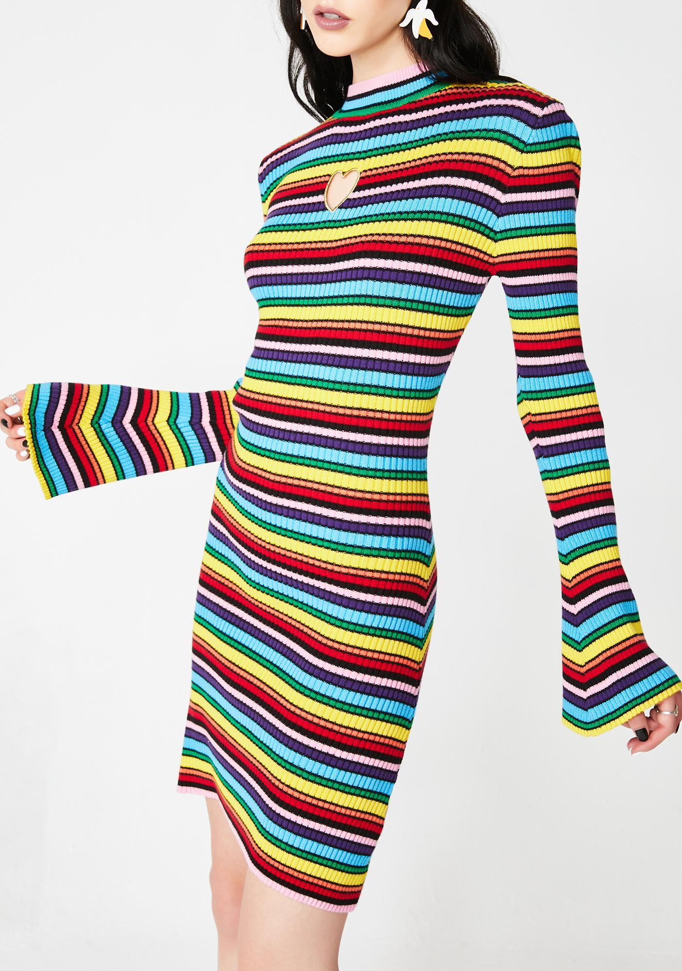 Lazy Oaf Rainbow Rib Dress