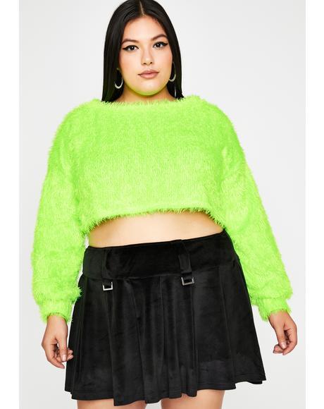 Dank Total Daring Diva Crop Sweater