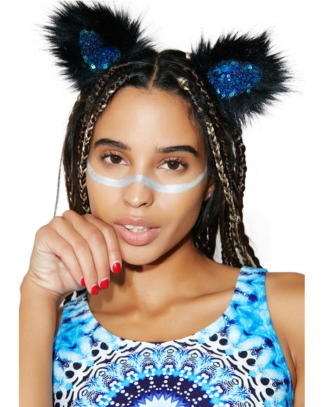 Midnight Mermaid Clip In Ears