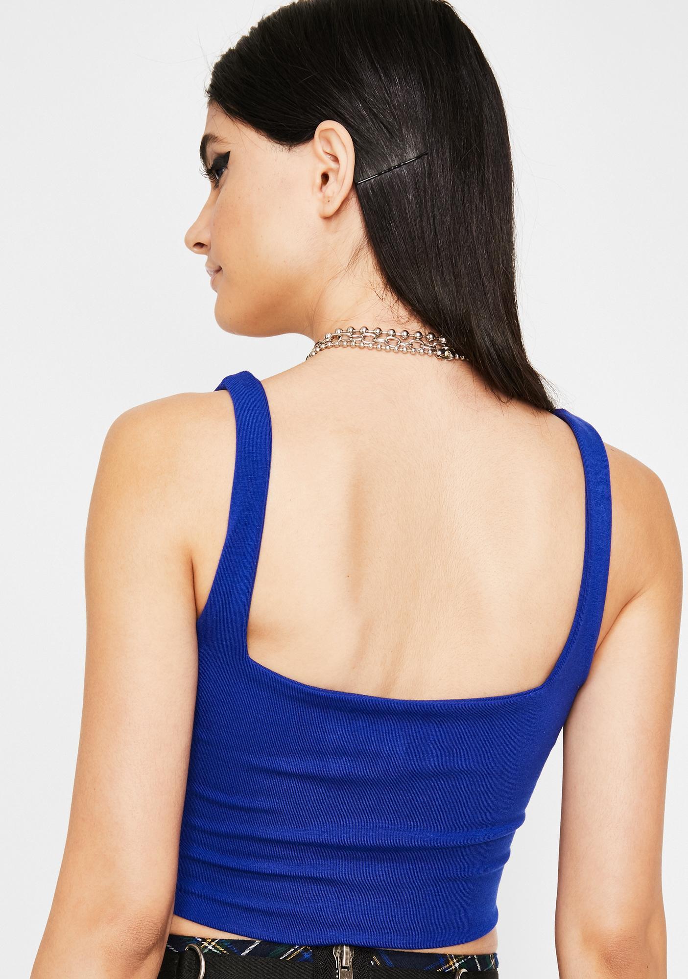 Cobalt Fierce Flex Crop Top