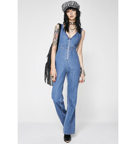 All Sprung Denim Jumpsuit