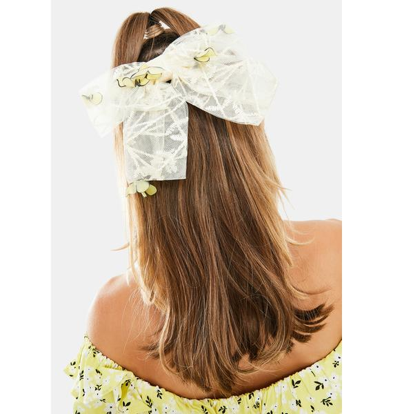 Flying Solo Organza Hair Bow