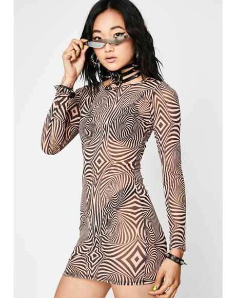 Tripster Hipster Mesh Dress