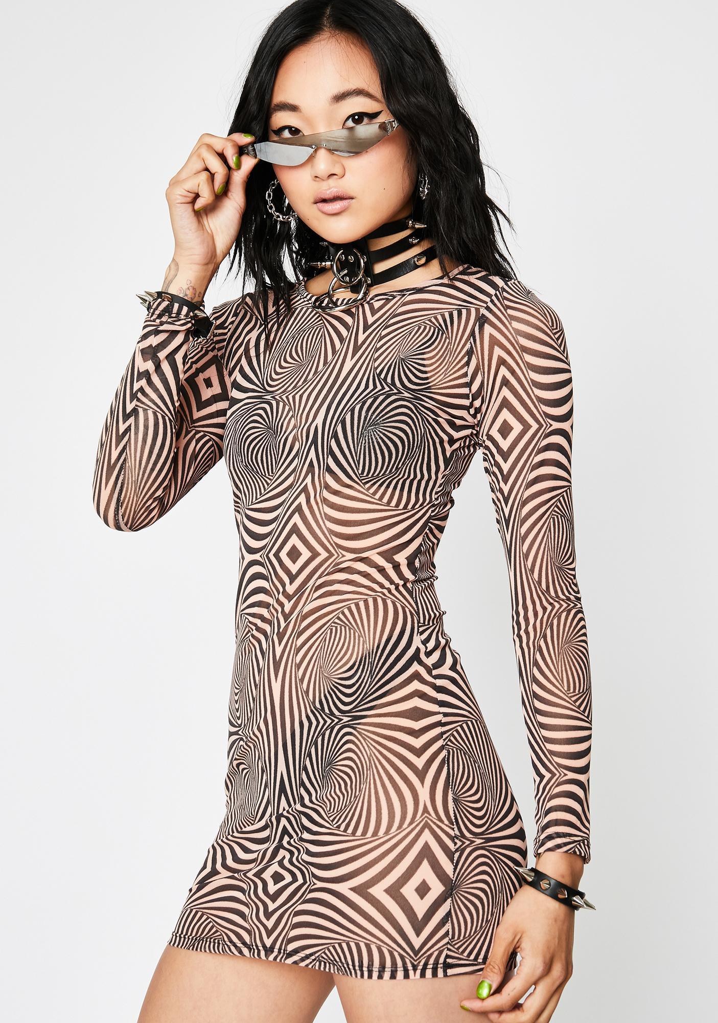 Tripster Hipster Mesh Dress