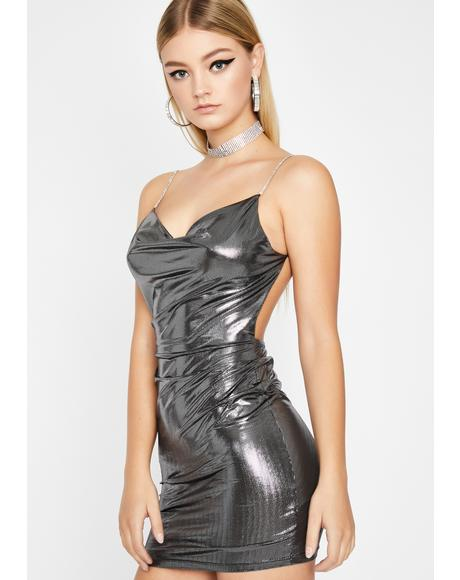 VIP Only Metallic Dress