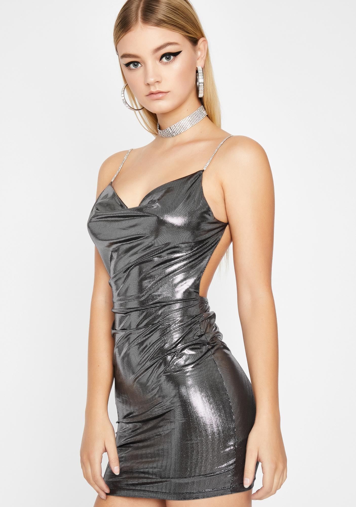 VIP Only Metallic Dress