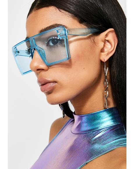 Sapphire Livin' Good Oversized Sunglasses