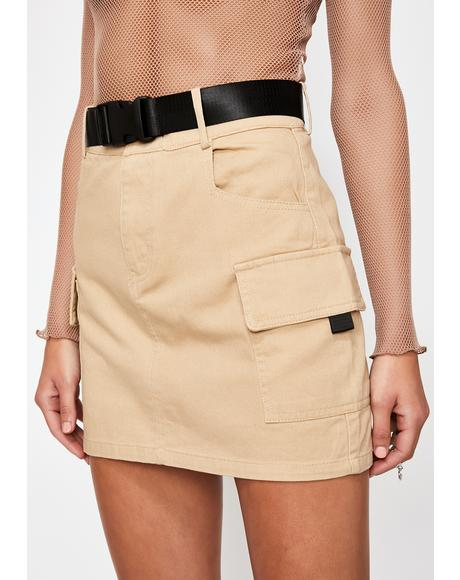 On The Go Cargo Skirt