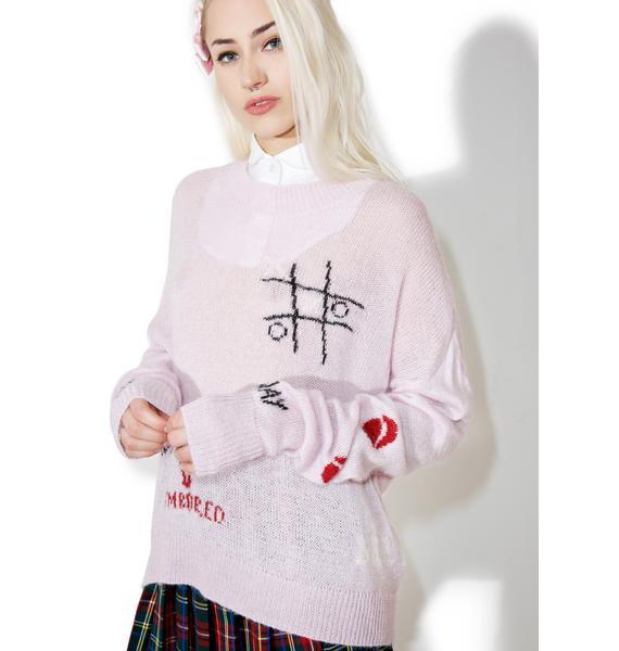 Wildfox Couture Girls Room Wordz Sweater