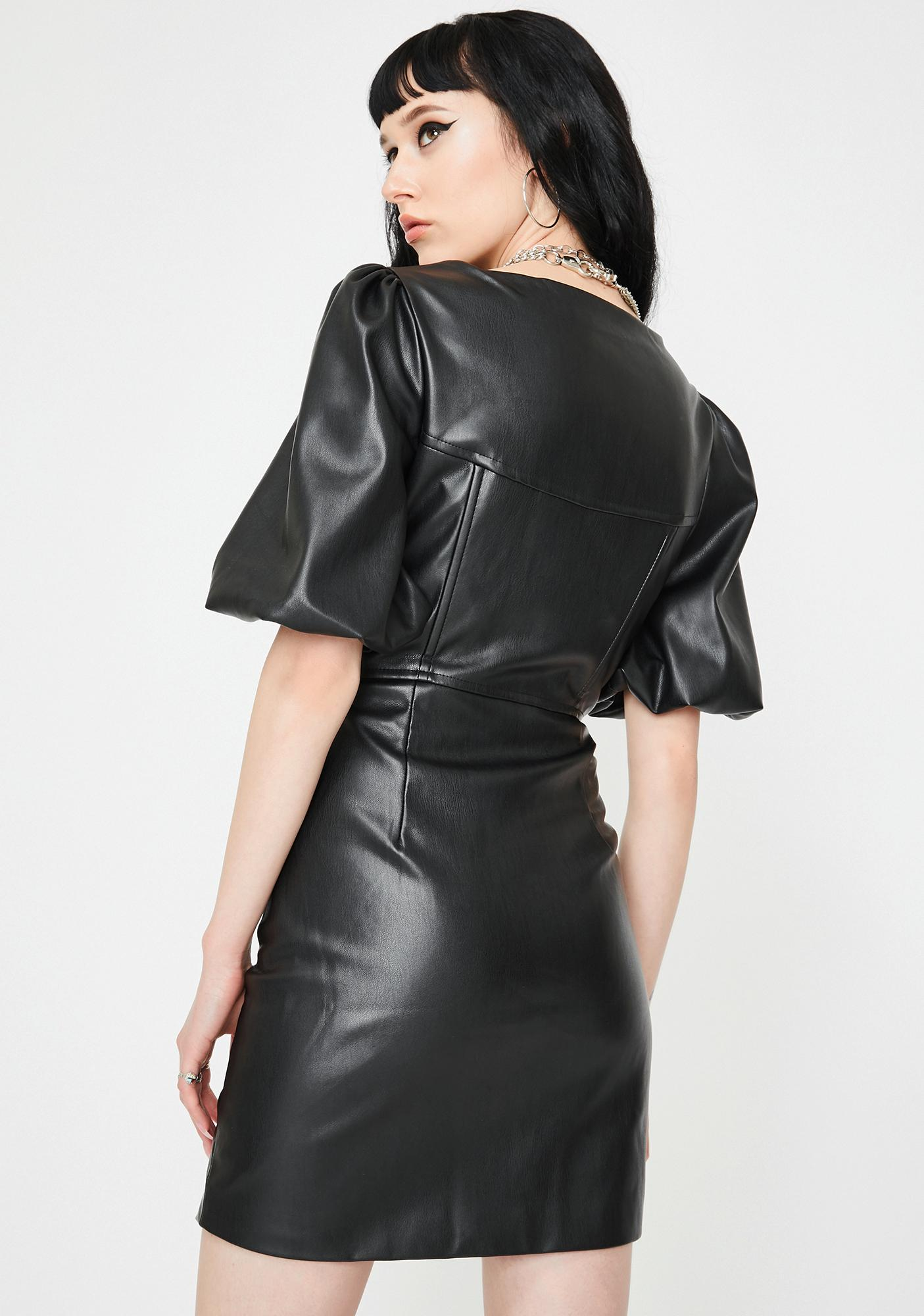 Jaded London Vegan Leather Corset Mini Dress