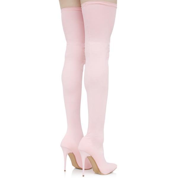 Sugar Spun Thigh-High Boots