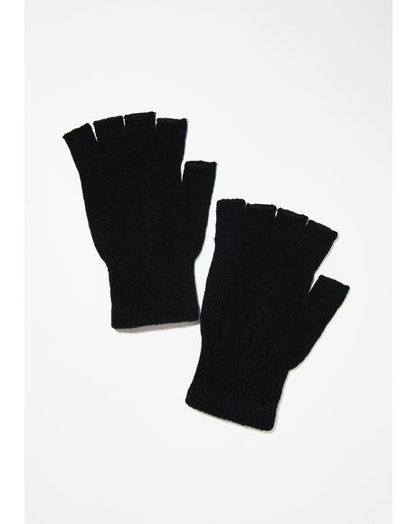 Wicked Sticky Fingers Knit Gloves