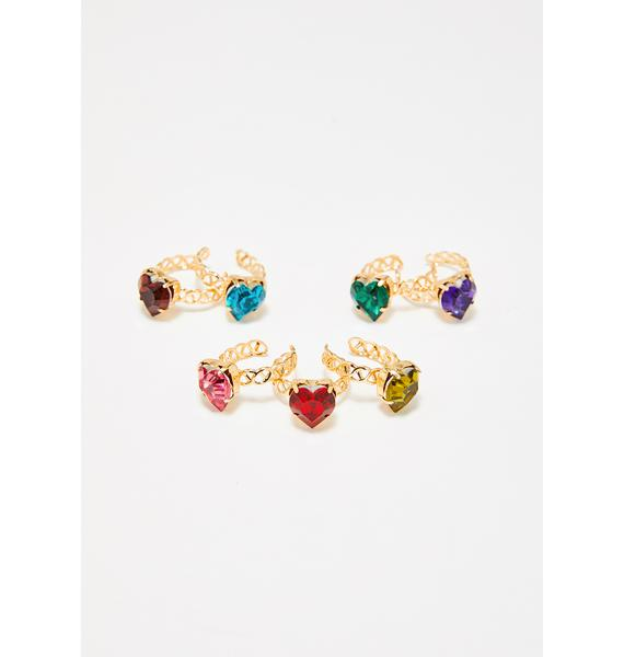 Love Magic Heart Ring Set