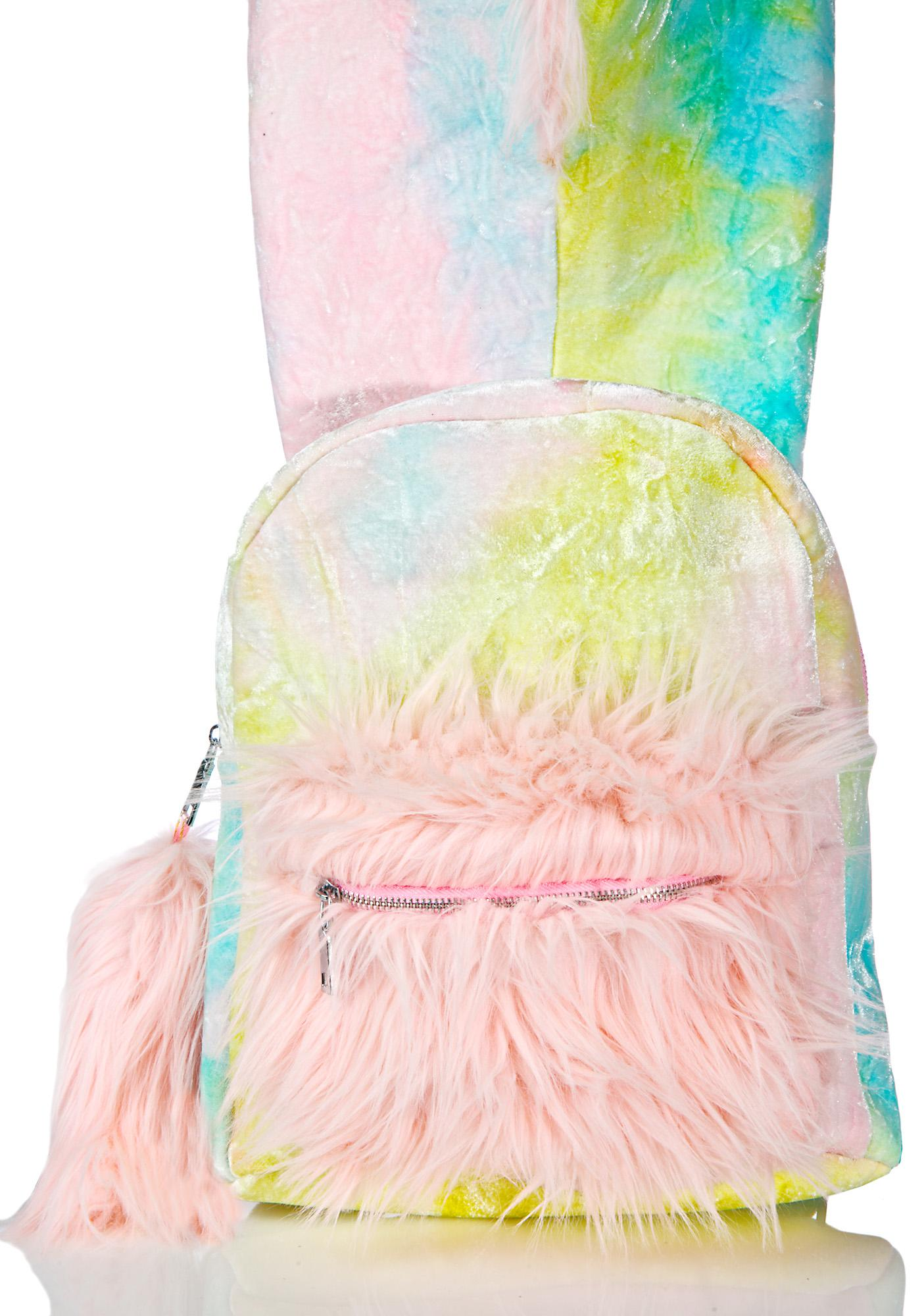 Sugar Thrillz Part Time Unicorn Hooded Backpack