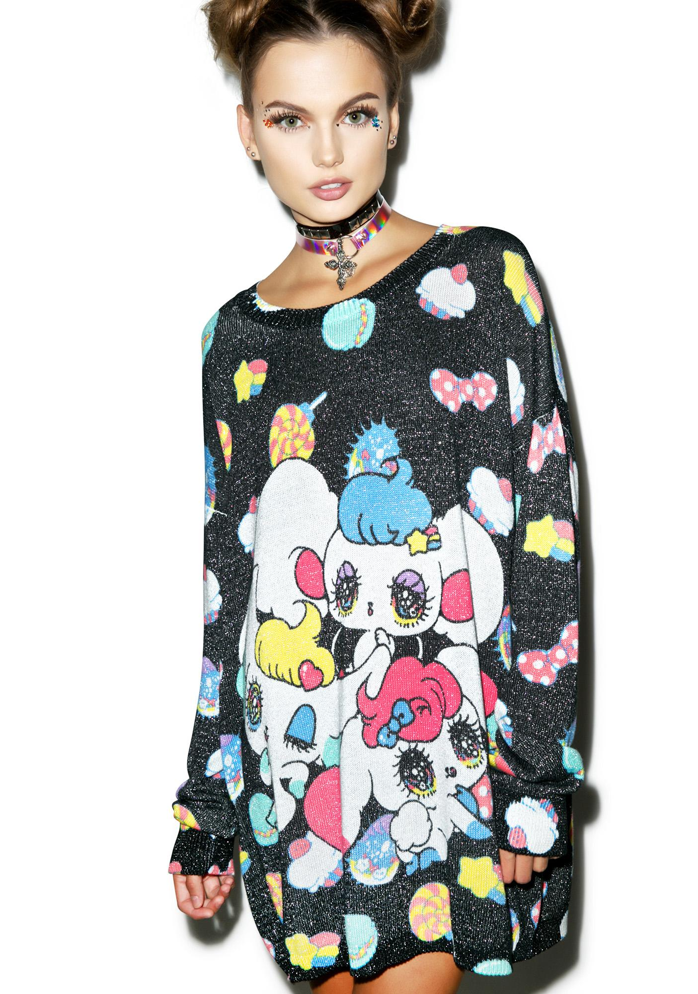 Japan L.A. Peropero Sparkles Knit Sweater