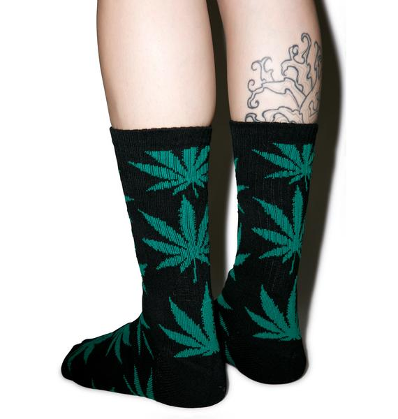 HUF Forest Plantlife Crew Sock