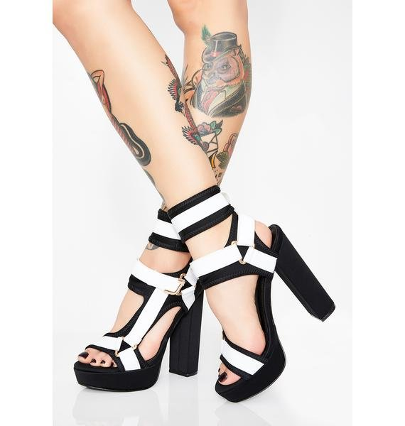 Purely Ready For Takeoff Strappy Heels