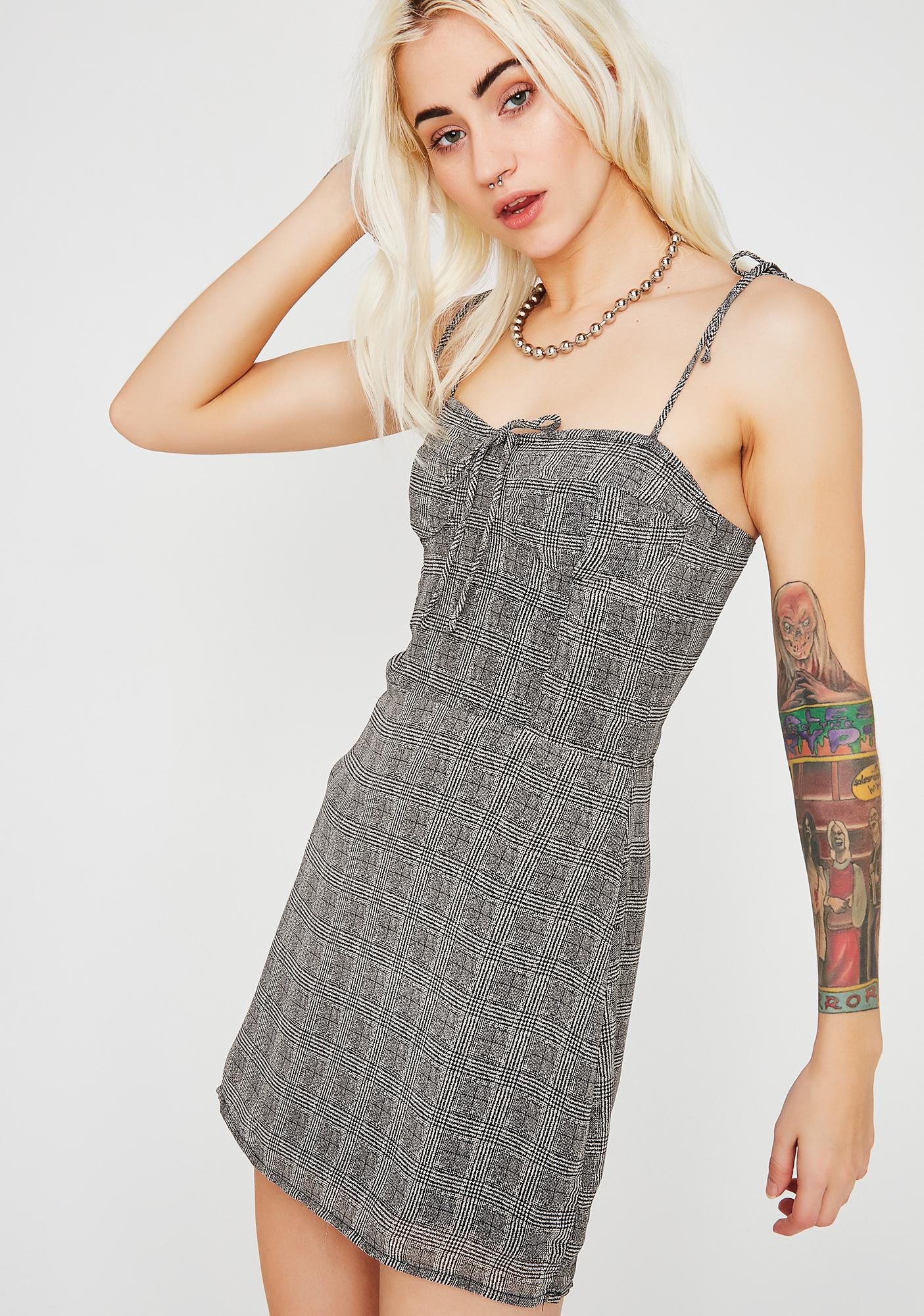 In Session Plaid Dress