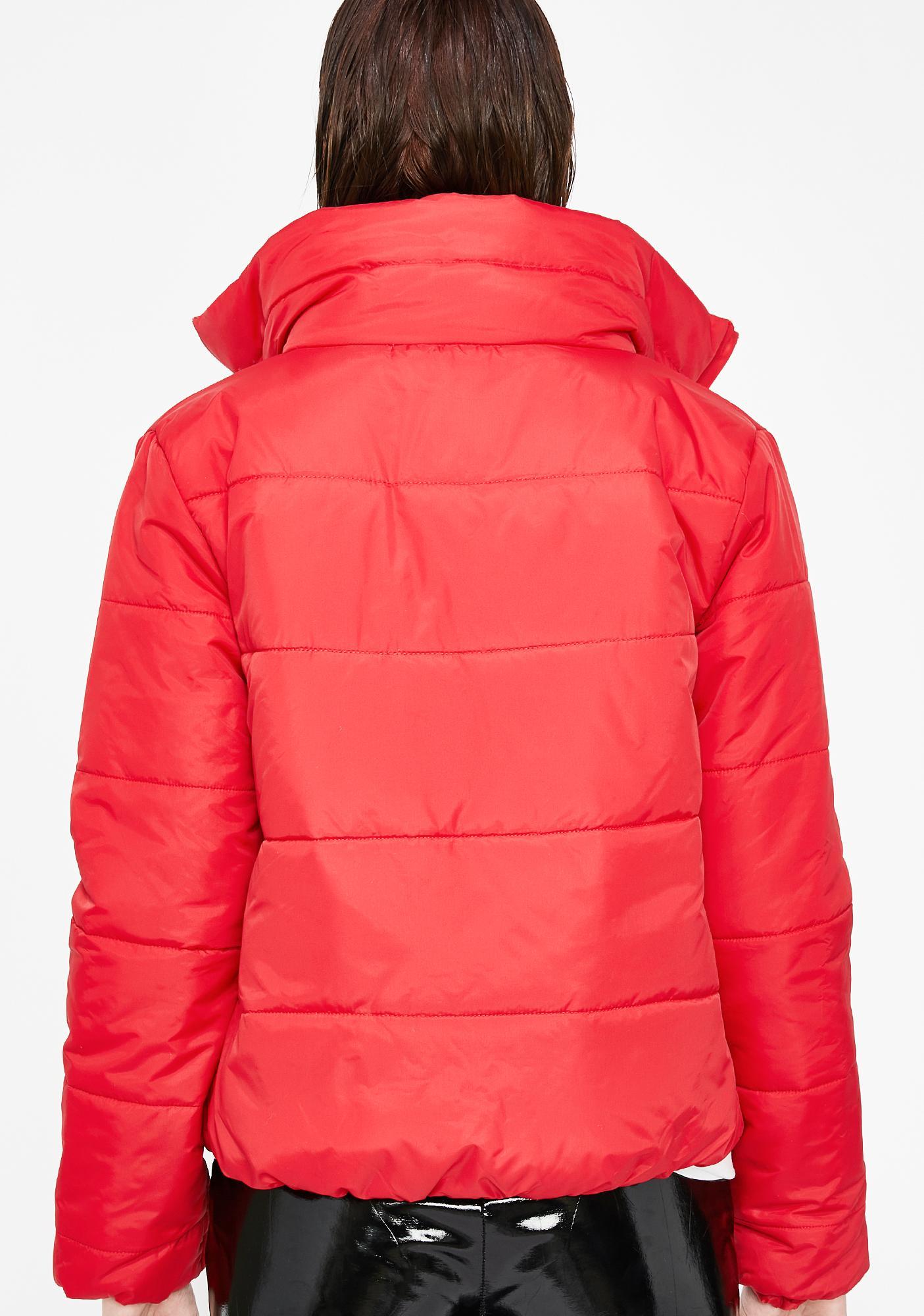 Futuristic Wave Puffer Jacket